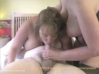 Curvy Claire - Threesome Fuck Pt1 HD Video