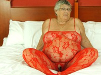 GrandmaLibby Sexy Red Body Suit For Grandma thumbnail