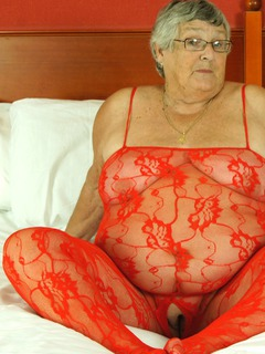Sexy Red Body Suit For Grandma