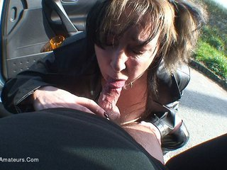 Mary Bitch - Parked Up Blow Job HD Video