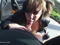 MaryBitch - Parked Up Blow Job HD Video