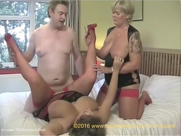 Curvy Threesome - Curvy Claire - Threesome With Randy Raz Pt4 Video
