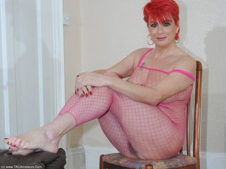Dimonty - Pink Body Stocking Pt1 Picture Gallery