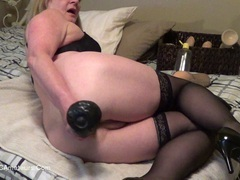 CougarBabeJolee - Super Anal, Big Toy Arse Stretching Pt1 HD Video