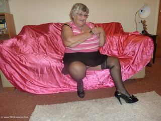 Grandma Libby - Pink Satin Setee Picture Gallery