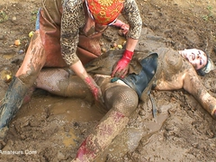 MaryBitch - In The Mud With My Friend Helga Pt1 HD Video