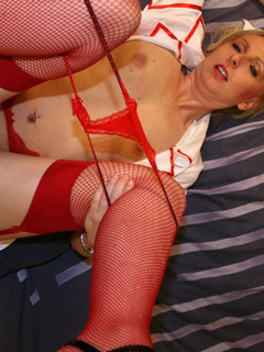I'm this hot and randy little blonde nurse,and i need cock.I just love it in any of my holes,and I even do it when I'm s