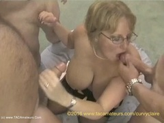 CurvyClaire - 14 Guy Bukake Pt2 HD Video