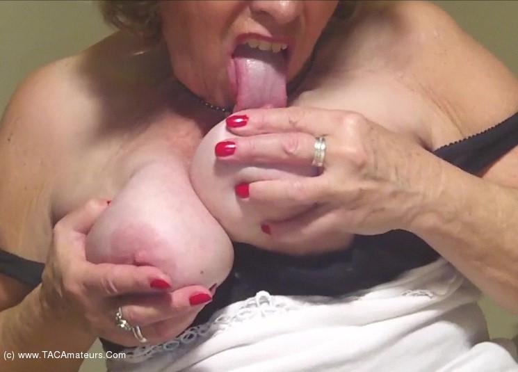 Caro - Big Jiggling Granny Tits Pt3 scene 3