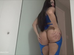 ChingLan - Blue Stripper Tease Pt1 HD Video