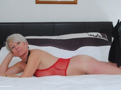 ShazzyB - Red Fishnet Pt2 Gallery
