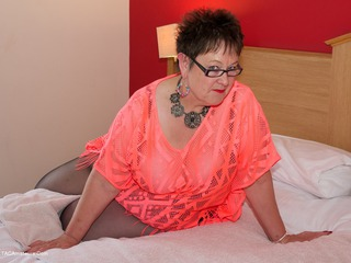 Dirty Doctor - Orange Top  Ripped Tights Picture Gallery