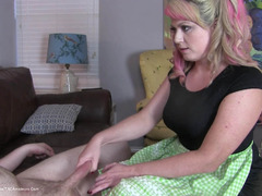 DaisyHaze - CFNM - Creepy Nude Cock Jerking & Handjob During Interview O HD Video