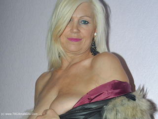 PlatinumBlonde - Leather Coat Panties & Stocki