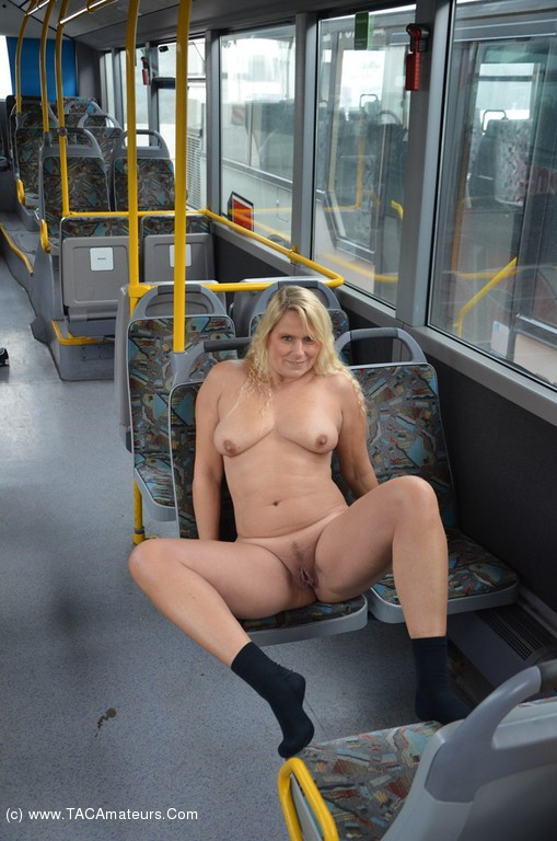 Naked in a buss