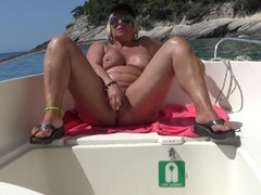 NudeChrissy - Zakynthos 2016 Dildo Play HD Video