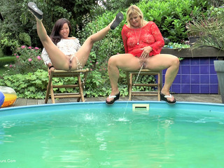 NudeChrissy - Wet Fun In The Garden