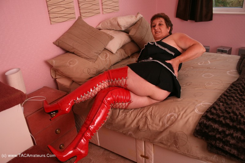 Wife red pvc dildo many years ago - 2 part 8