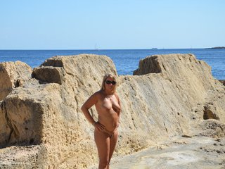 Nudist On The Cliffs