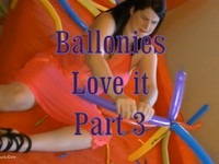Look at me ... see how I let balloons inflate and burst , see here now the last part with more ballones