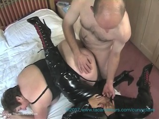 Curvy Claire - Curvy Claires PVC Lesbo 3 Some With Kinky Carol Pt3 HD Video