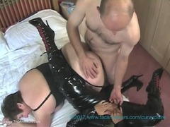 Curvy Claire - Curvy Claire's PVC Lesbo 3 Some With Kinky Carol Pt3 HD Video