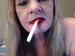 CougarBabeJolee - Filthy Whore Mouth Smoking HD Video