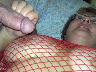 BustyBliss - Red Fishnet In The Shower - B