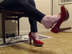 CougarBabeJolee - My Sexy Red Heels HD Video