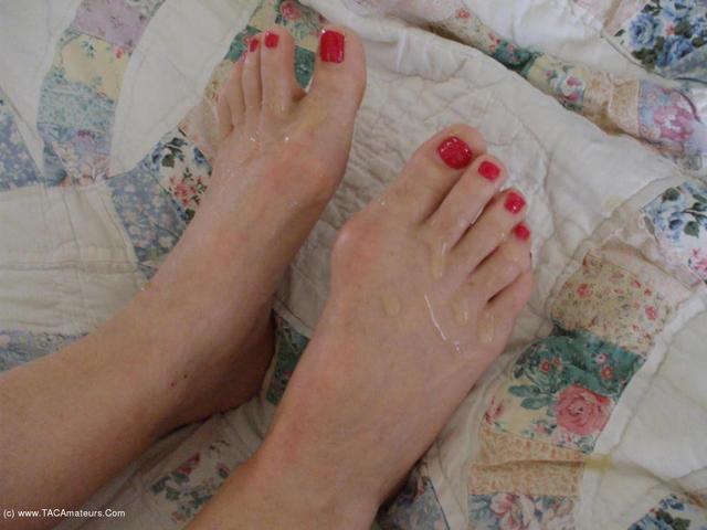 BustyBliss - Cummed Feet Pt2