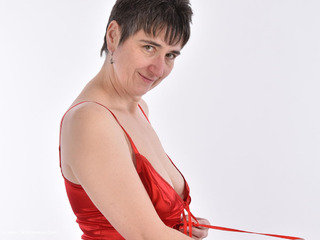 HotMilf - Strip In Red