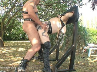 Whipped & Fucked On Pillory P