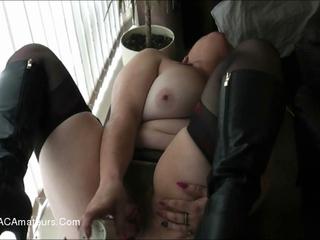 Juicey Janey - Drilling Dildo Pt1 HD Video