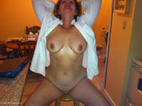 Hi All I was making dinner for my cummy boy toy CBT and in the middle of my preparations We got a little horned up as as