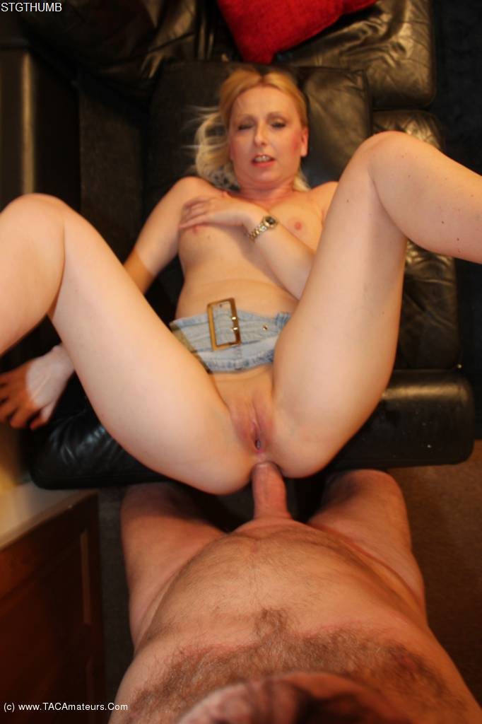 TraceyLain - Fuck In Denim Skirt On The Sofa Pt2 scene 1