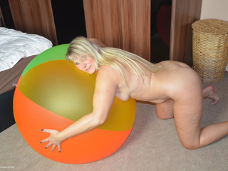Naked With A Huge Beach Ball