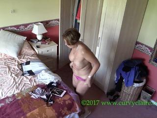 Curvy Claire Caught On Spy Ca