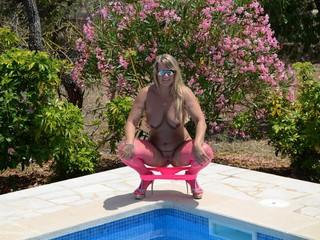 Pink Stockings & High Heels