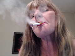 CougarBabeJolee - Dangling Smoke From My Red Lips HD Video