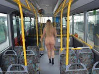 Naked in the bus we