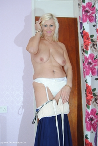platinumblonde - White & Blue Dress Comes Off Free Pic 2