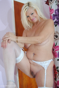 platinumblonde - White & Blue Dress Comes Off Free Pic 4