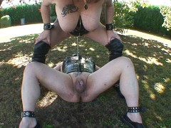 MaryBitch - Outdoor Pissing Game With Male Slave HD Video