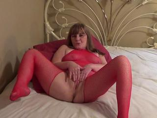 Red Hot Fishnets Dildo Fuckin