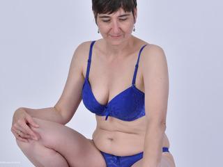 HotMilf - Blue Lingerie