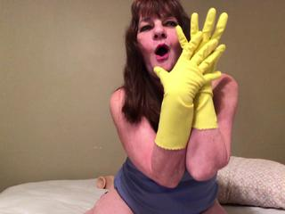Rubber Glove Fetish Fingering