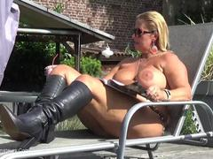 NudeChrissy - Boots At The Pool HD Video