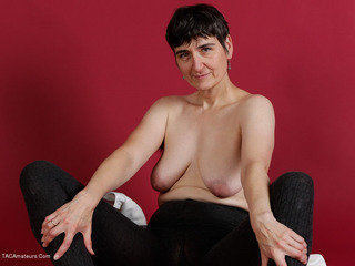 HotMilf - Blouse & Thick Wool Tights