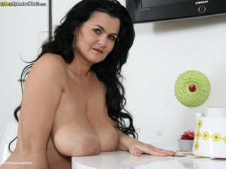 Big boobs on white table pt2