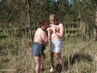 Lesbo Fun With Claire In The Woods Pt3